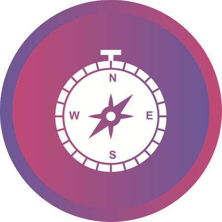 Beautiful Compass Glyph Vector Icon