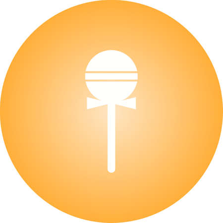 Beautiful Lollipop Glyph Vector Icon