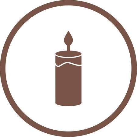 Beautiful Candle Glyph Vector Icon