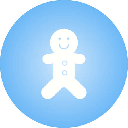 Beautiful Ginger Bread Glyph Vector Icon
