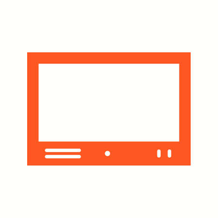 Beautiful Televison Set Glyph Vector Icon Vectores