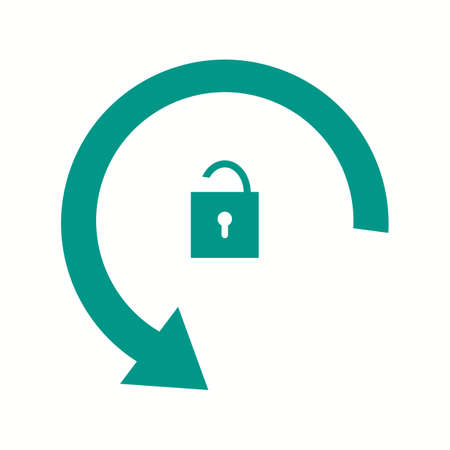 Beautiful Rotation Unlocked Glyph Vector Icon