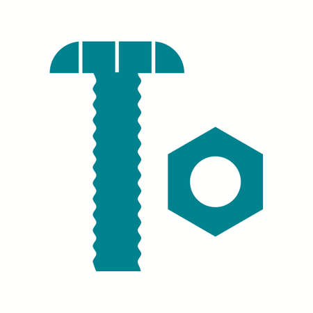Beautiful Nut and bolt Glyph Vector Icon