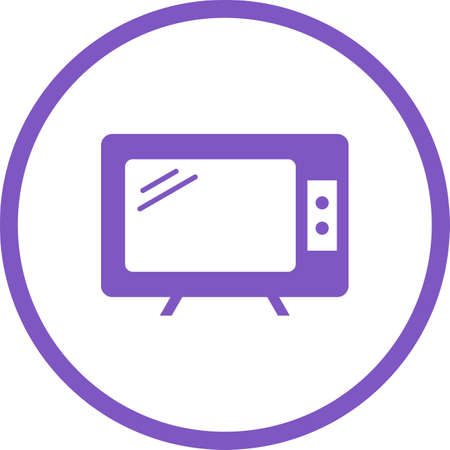 Beautiful Television Glyph Vector Icon