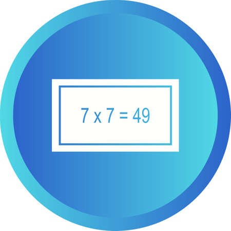 Beautiful Arithmetic Glyph Vector Icon