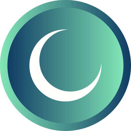 Beautiful Moon Glyph Vector Icon 版權商用圖片 - 137723723