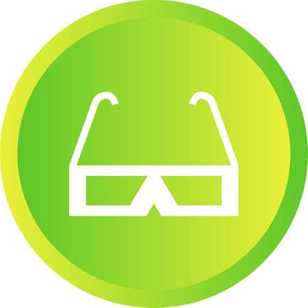 Beautiful Glasses Glyph Vector Icon