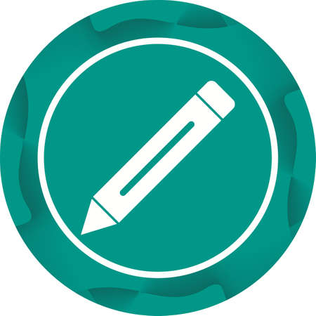 Beautiful Pencil Glyph Vector Icon