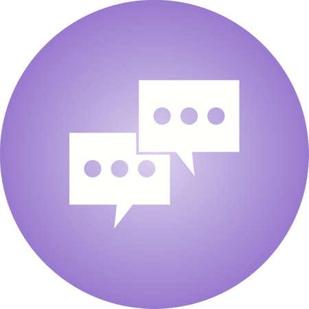 Conversation Glyph  Icon Ilustrace