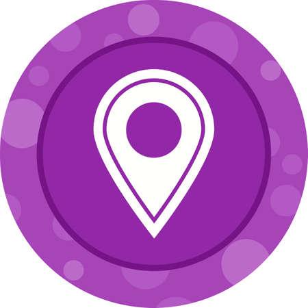 Location Pin Glyph Icon Ilustrace