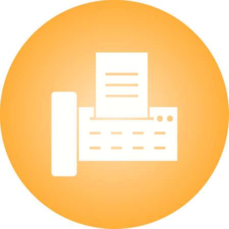 Fax Machine Glyph Icon