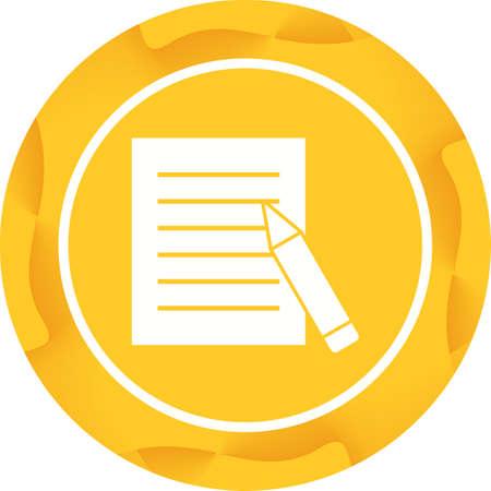 Beautiful Edit Report Glyph Vector Icon