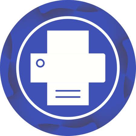 Printer Glyph Icon 向量圖像