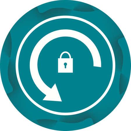 Rotation lock Icon Ilustrace