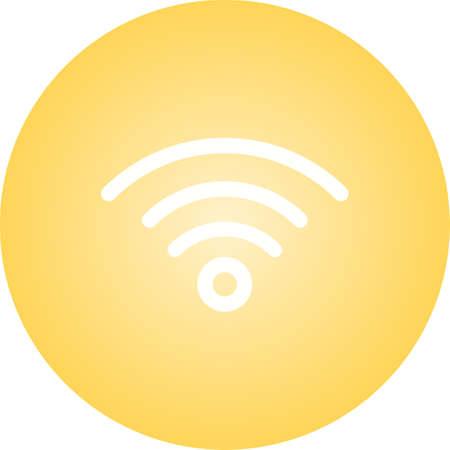 Wifi Signal Glyph  Icon