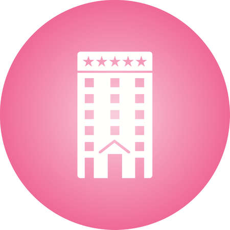 Five Star Hotel Glyph Icon