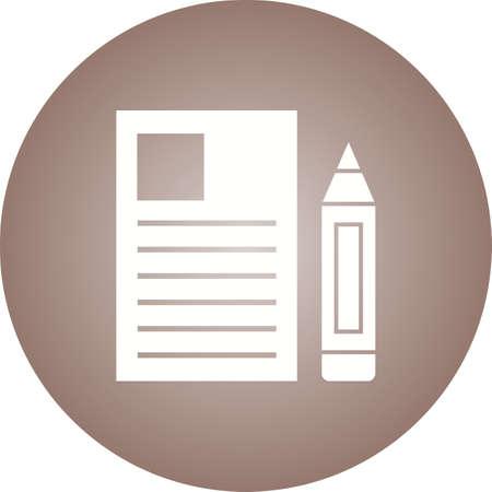 Report Glyph  Icon Ilustração