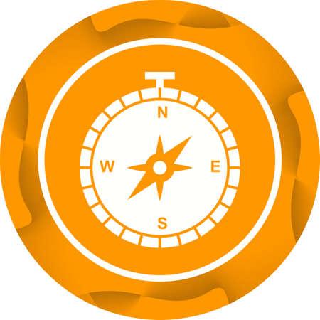 Compass Glyph  Icon Ilustrace