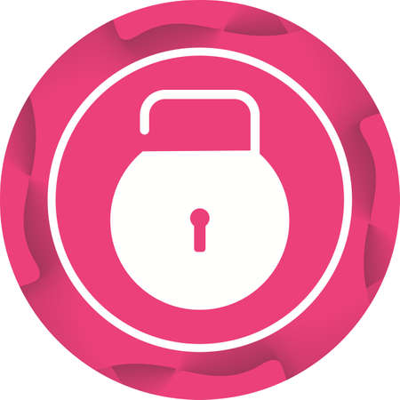 Beautiful Unlock Glyph Vector Icon
