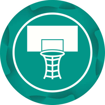 Beautiful Volleyball Hoop Glyph Vector Icon Banque d'images - 137750687