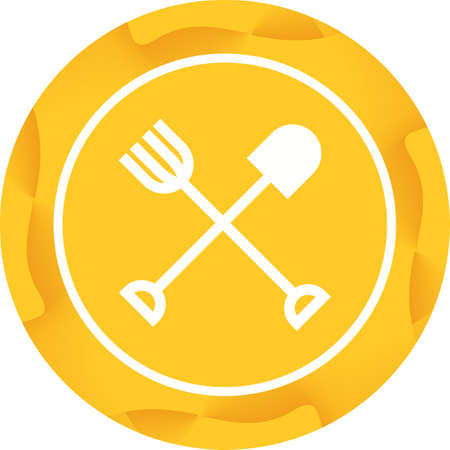 Agricultural Tools Glyph  Icon Çizim