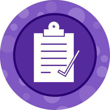 Beautiful Check Report Glyph Vector Icon