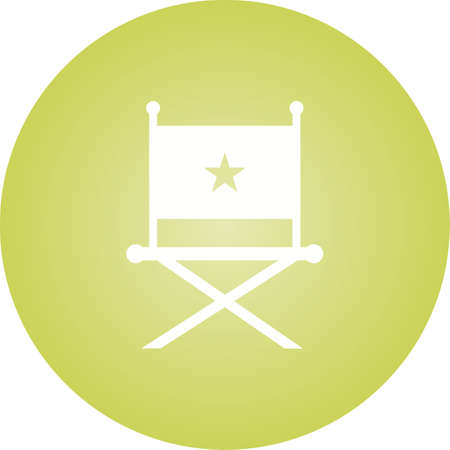 Beautiful Director Chair Glyph Vector Icon