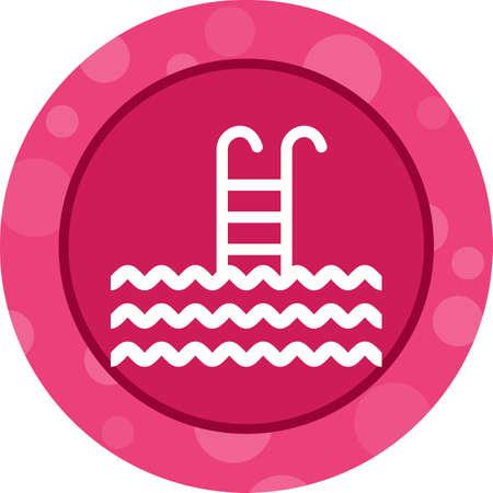 Swimming Pool Glyph  Icon Ilustrace