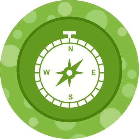 Compass Glyph  Icon Ilustração