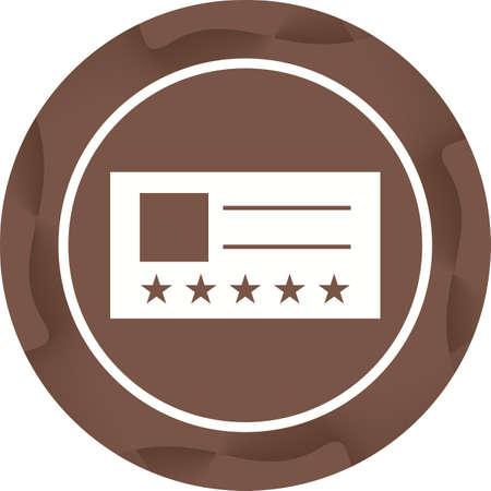 Vip Card Glyph  Icon Ilustrace