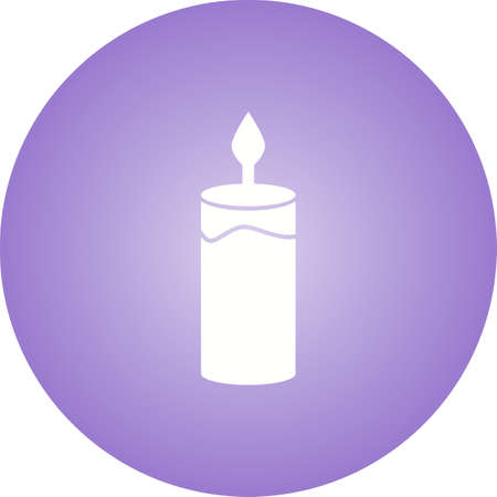 Beautiful Candle Glyph Vector Icon Imagens - 137751745