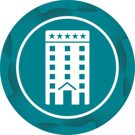 Five Star Hotel Glyph  Icon 向量圖像