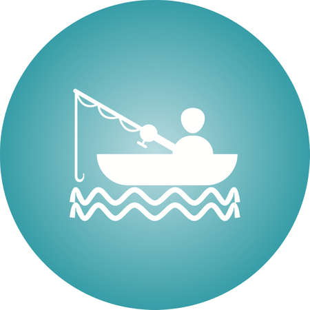 Beautiful Fishing Glyph Vector Icon