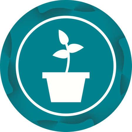 Beautiful Planting Glyph Vector Icon