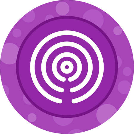 Hotspot Signal Glyph  Icon Ilustrace