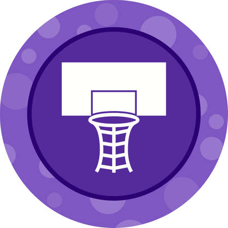 Beautiful Volleyball Hoop Glyph Vector Icon Banque d'images - 137752401