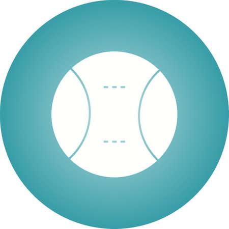 Tennis Ball Glyph  Icon Ilustrace