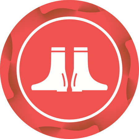 Long boots Glyph  Icon
