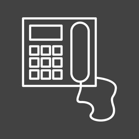 Unique Telephone Vector Line Icon