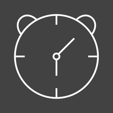 Unique Alaram Clock Vector Line Icon 写真素材 - 137918909