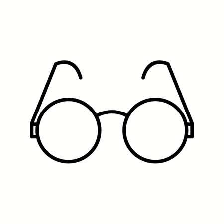 Unique Sunglasses Vector Line Icon Illusztráció