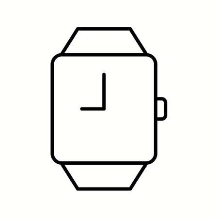 Unique Stylish Watch Vector Line Icon Ilustrace