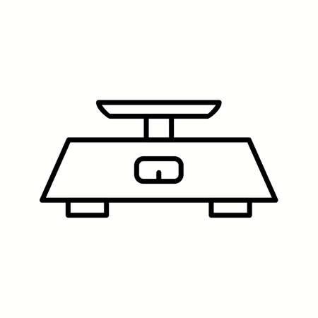 Unique Measuring Scale Vector Line Icon 向量圖像