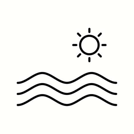 Unique Hydro Power Vector Line Icon Çizim