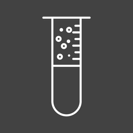 Unique Bubbles From Tube Vector Line Icon