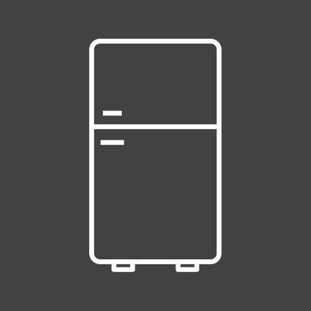 Unique Refrigerator Vector Line Icon Reklamní fotografie - 137895513