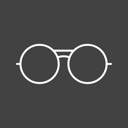 Unique Vintage Glasses Vector Line Icon Reklamní fotografie - 137895308