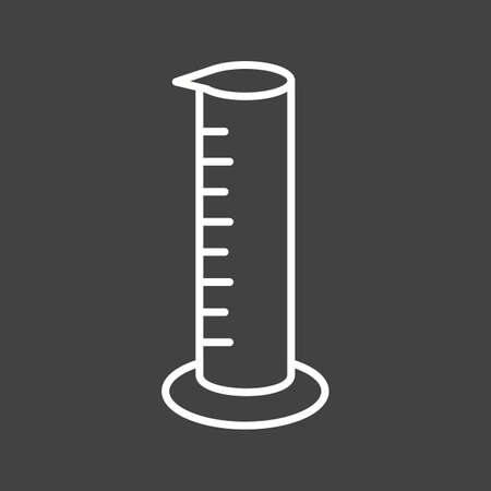 Unique Graduated Cylinder Vector Line Icon Ilustrace