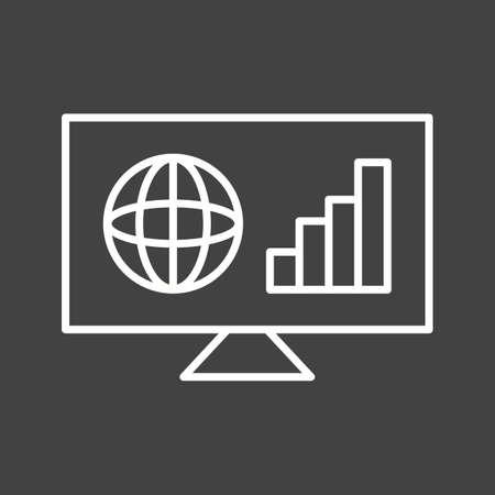Unique Business News Vector Line Icon
