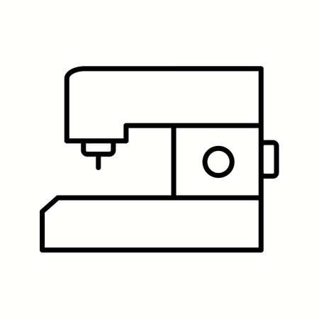 Unique Sewing Machine Vector Line Icon Ilustrace